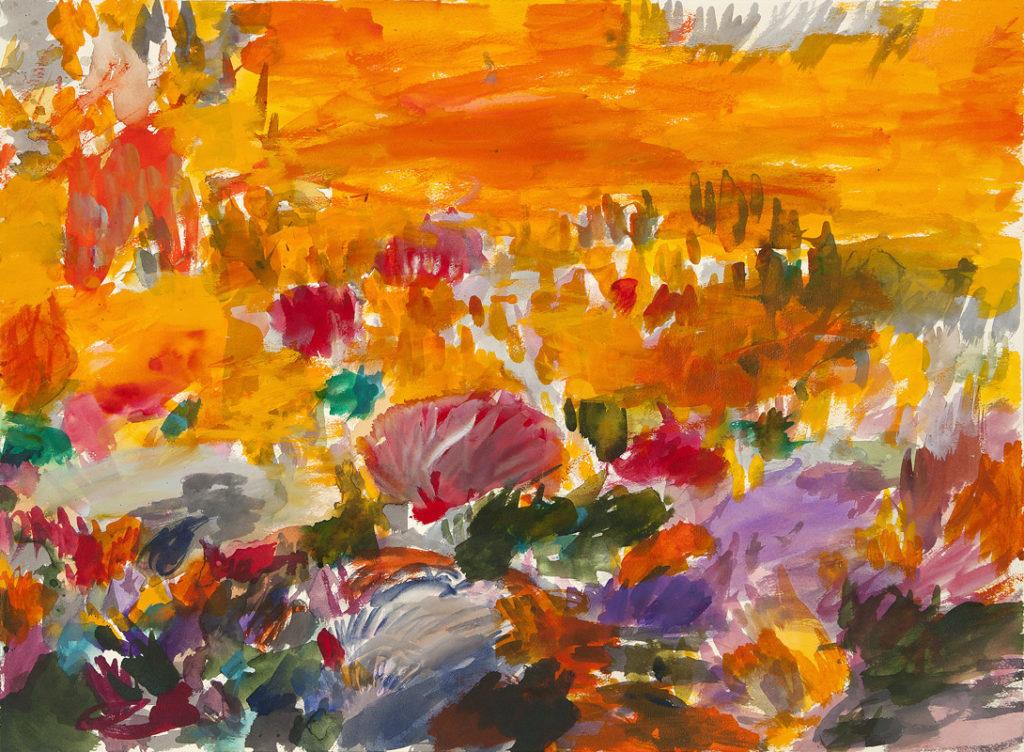 Jardín de otoño | Tinta china, acuarela / papel. 56 x 76 cm. 2015