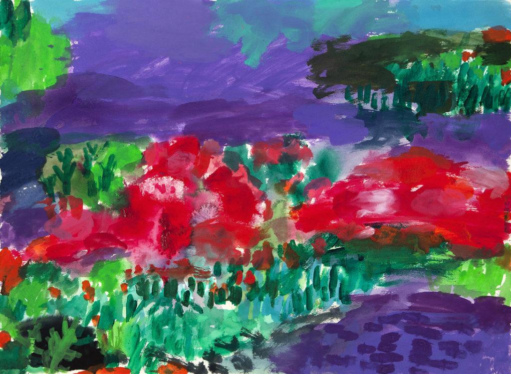 Jardín misterioso | Tinta china, acuarela / papel. 56 x 76 cm. 2015