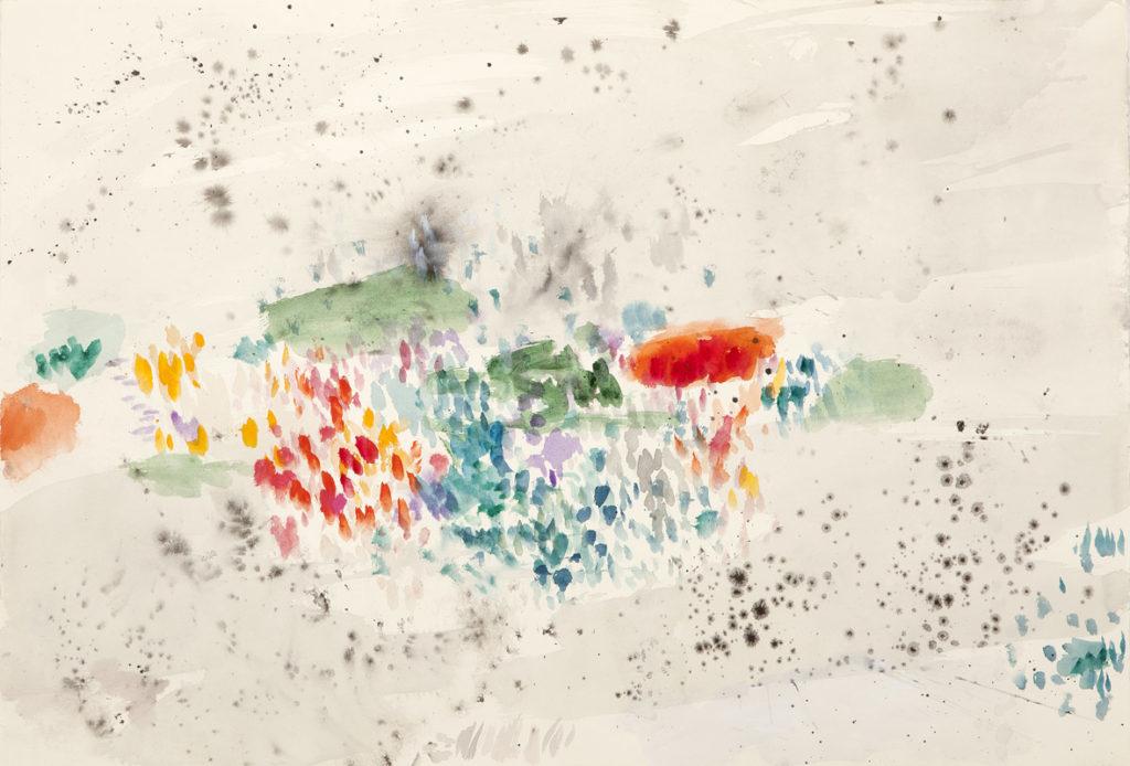 Jardín para Sonia | Tinta china, acuarela / papel. 76 x 112 cm. 2014