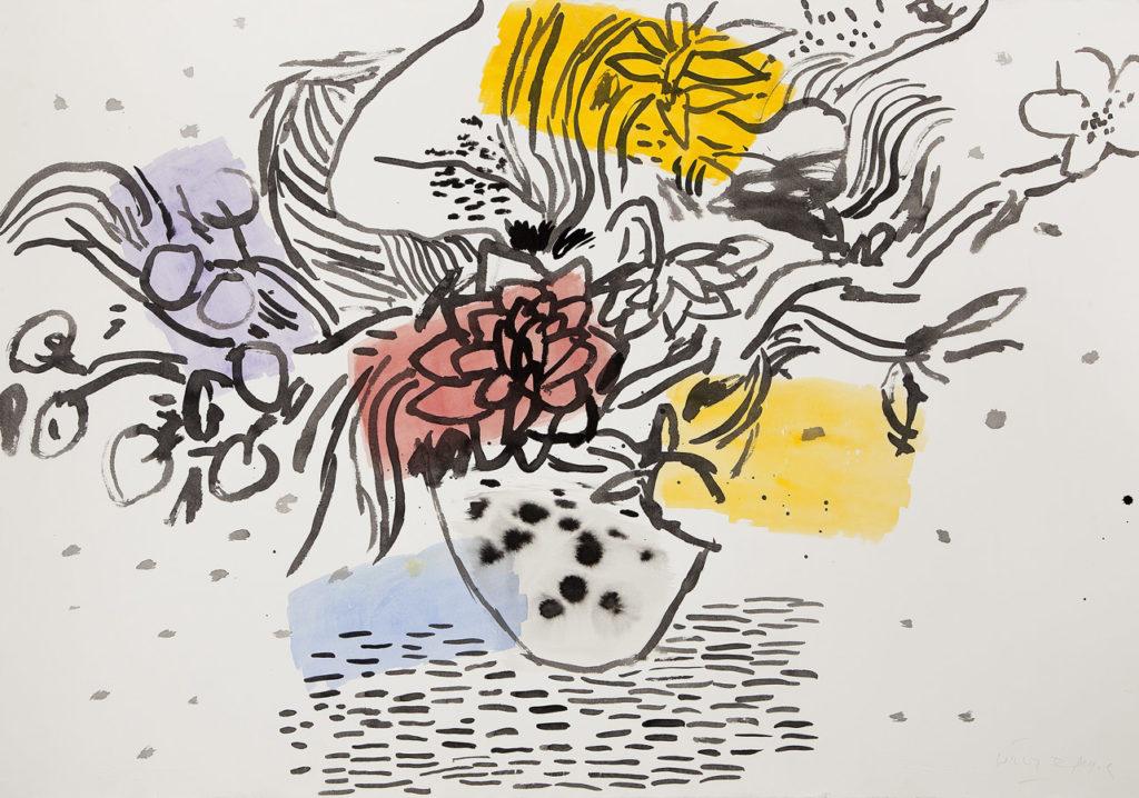 Jarrón | Tinta china, acuarela / papel. 70 x 100 cm. 2014