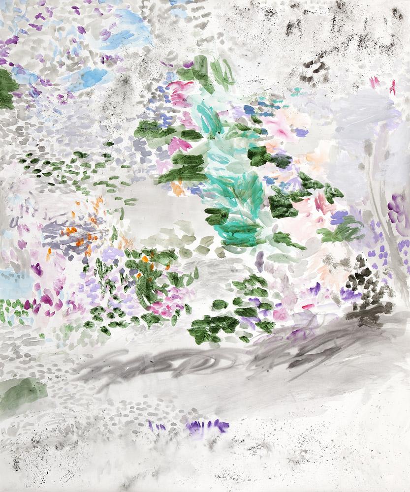 Orquídeas en la selva | Tinta china, acuarela / papel. 180 x 150 cm. 2014