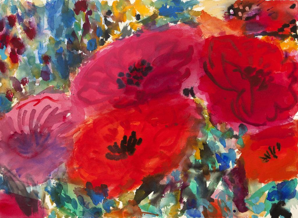 Rojos para enamorados | Tinta china, acuarela / papel. 56 x 76 cm. 2015