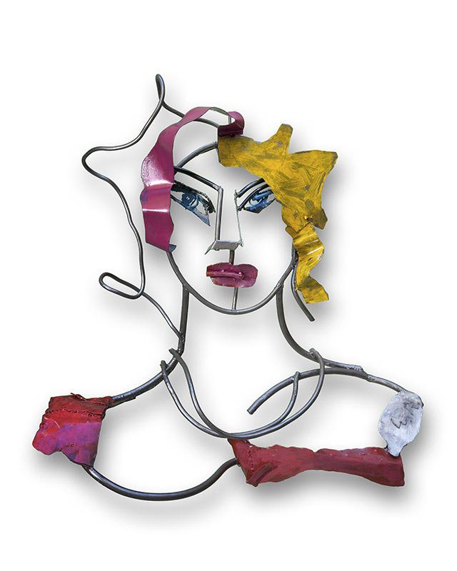 Mujer bonita | Hierro pintado. 96 x 80 x 29 cm. 2018