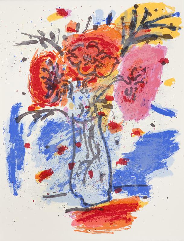 3 Flores | Serigrafía a 11 colores. 65 x 50 cm. 2005