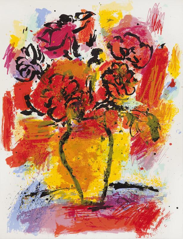Anémonas | Serigrafía a 11 colores. 65 x 50 cm. 2005