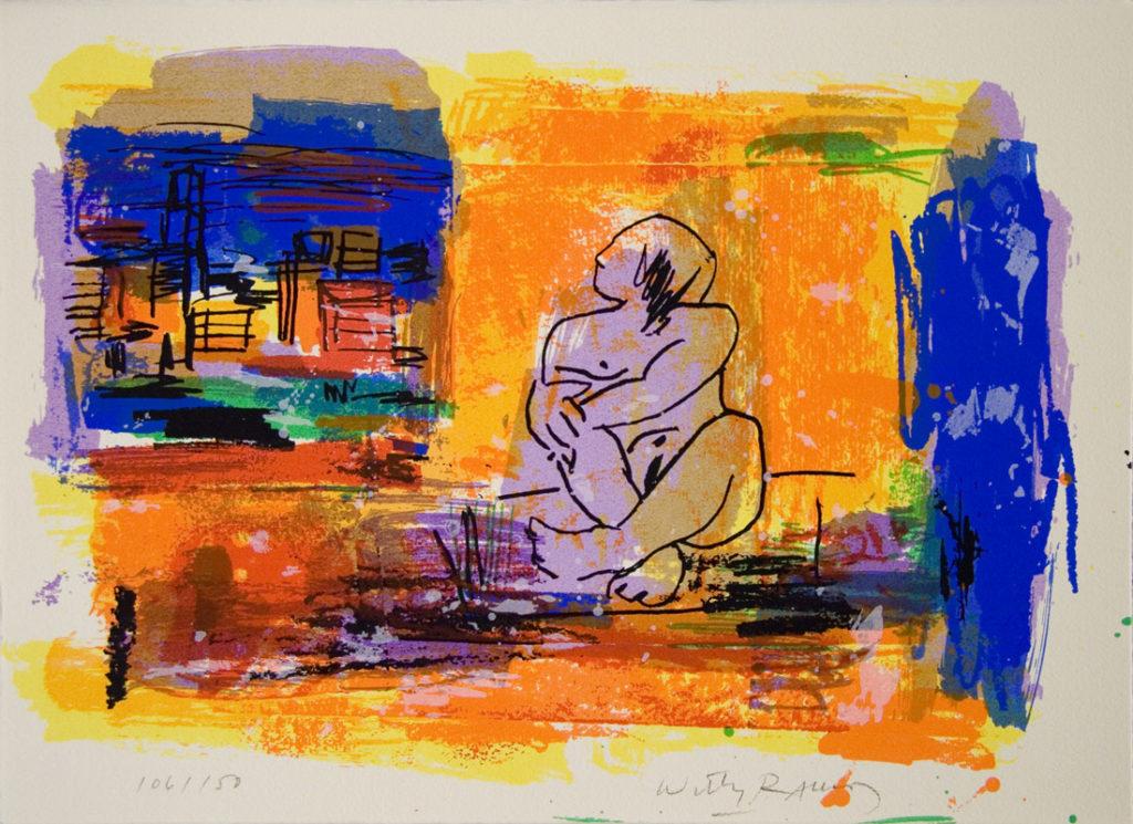 Mujer mirando | Serigrafía a 7 colores. 28 x 38 cm. 2005