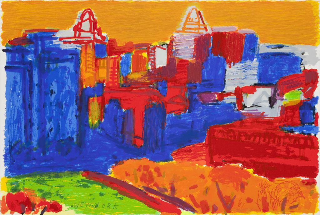New York | Serigrafía 25 colores sobre papel Arches 300gr. Editada en el Taller Pepe Jiménez, La Hermita. 76 x 112 cm. 2011