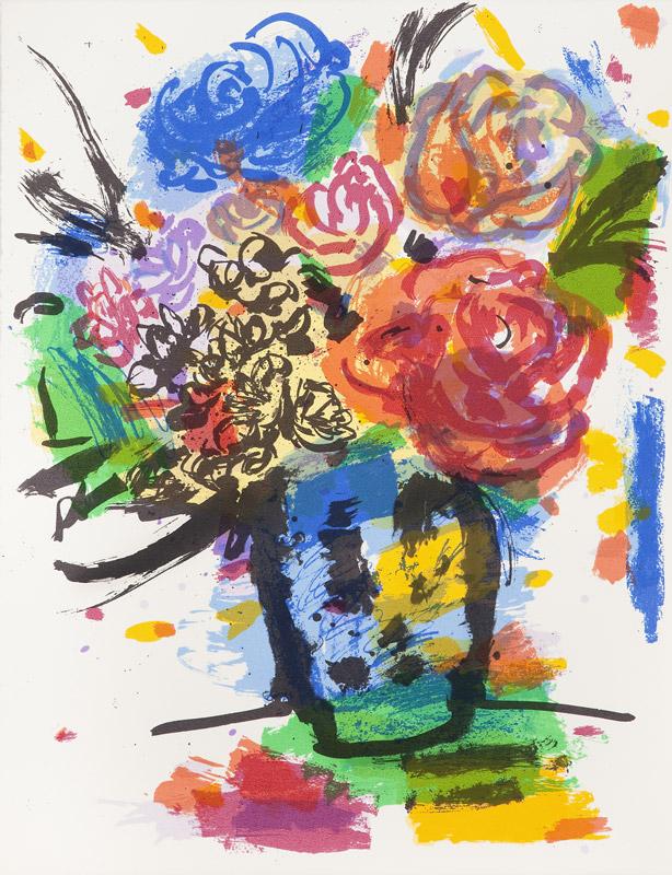 Rosas | Serigrafía a 11 colores. 65 x 50 cm. 2005