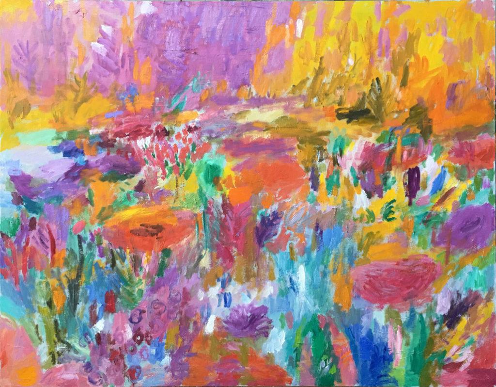 Amarillo de otoño | Óleo / tela. 114 x 146 cm. 2019