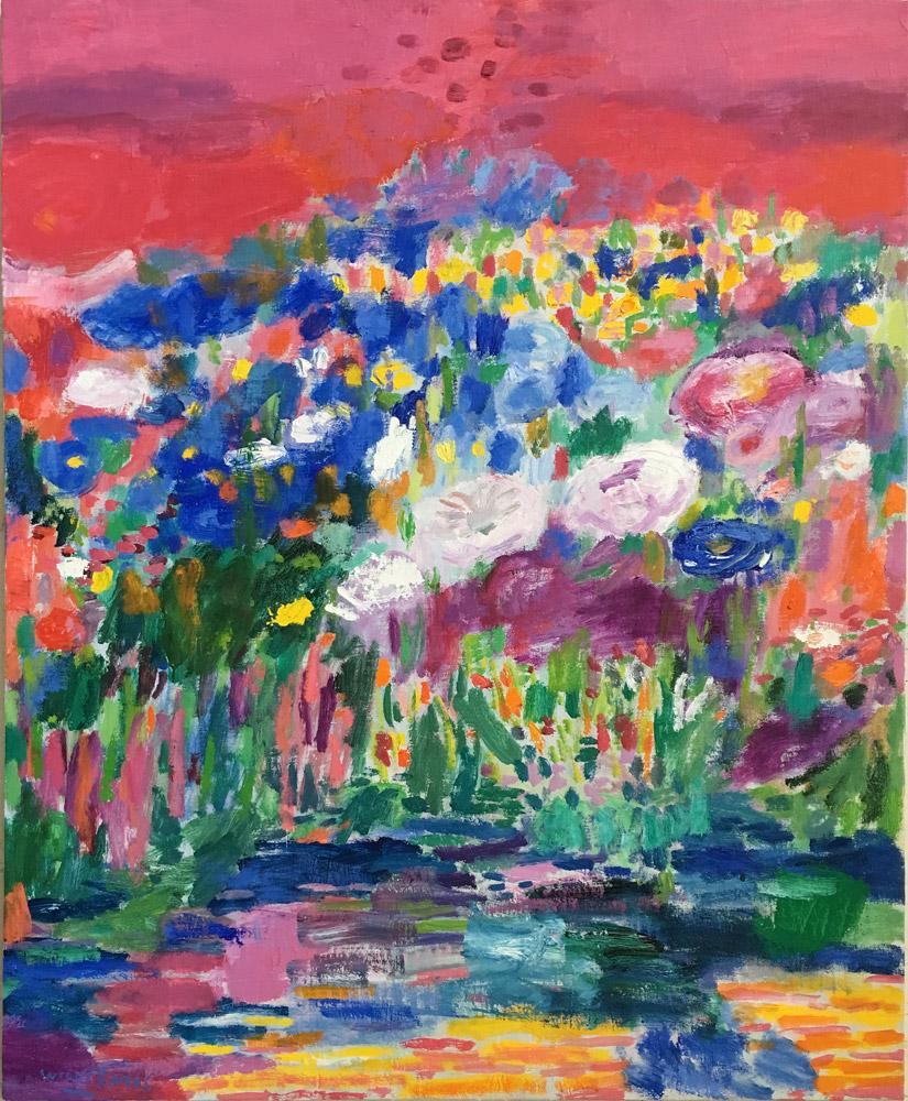 Flores para ti | Óleo / tela. 100 x 81 cm. 2019