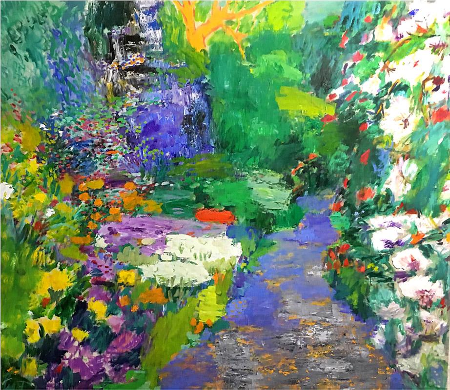 Flores para Valentina | Óleo / tela. 180 x 200 cm. 2017