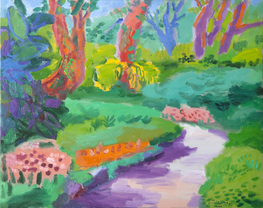 Jardín botánico | Óleo / tela. 73 x 92 cm. 2016