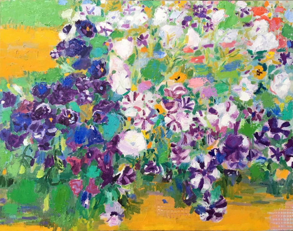 Jardín misterioso | Óleo / tela. 114 x 146 cm. 2019