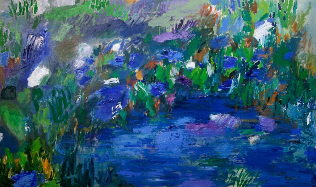 Río encantado | Óleo / tela. 150 x 250 cm. 2016